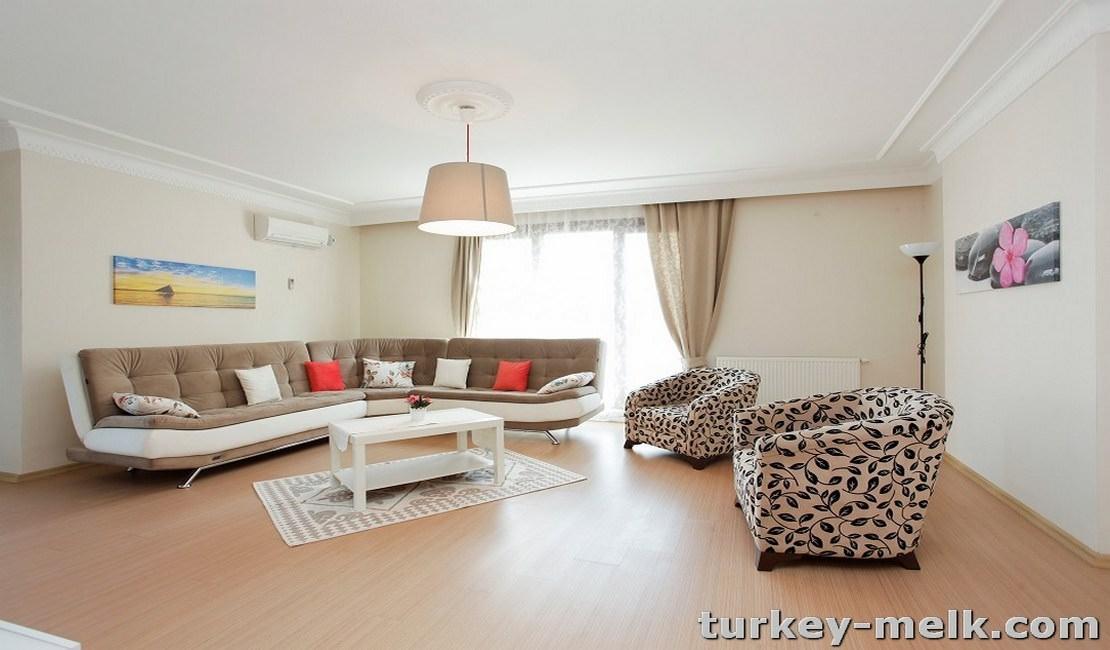 آپارتمان اجاره ای در استانبول سه خوابه کد 5003