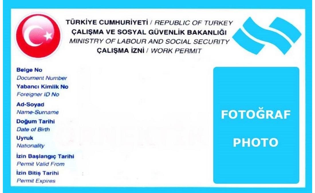 اجازه کار در ترکیه