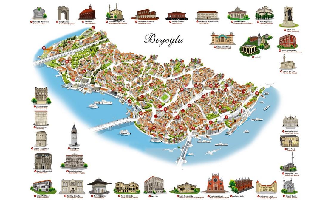 منطقه تکسیم ، بی اوغلو استانبول