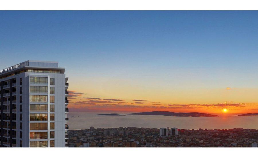 خرید آپارتمان با منظره بسیار عالی در منطقه آسیایی کارتال استانبول