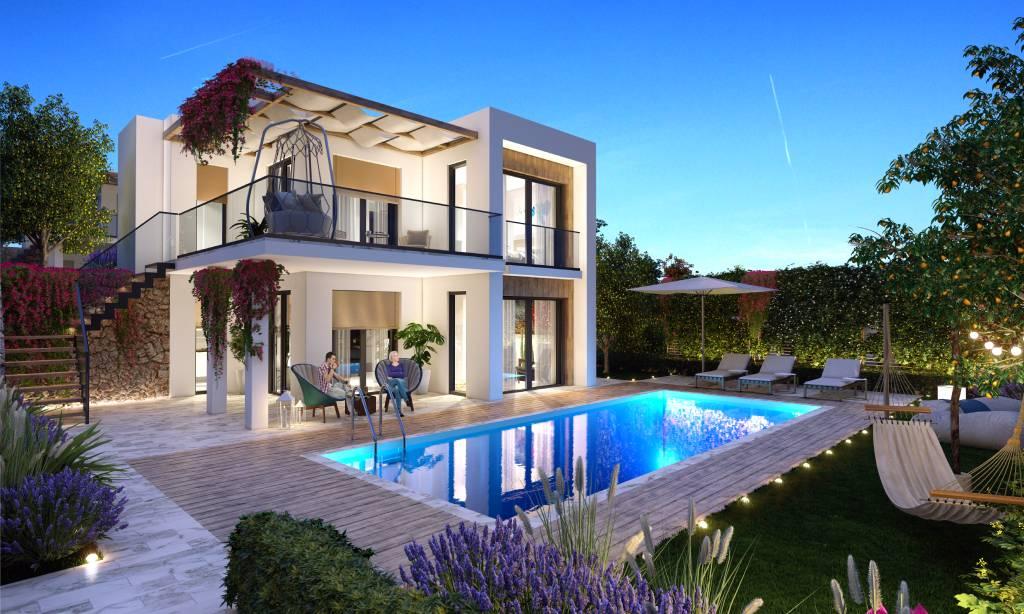 خرید ویلا و آپارتمان لوکس با منظره دریا در شهر بدروم شماره 258